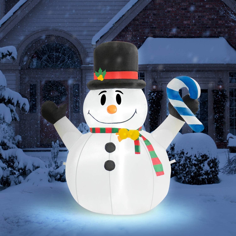 Rocinha 4 Feet Tall Christmas Inflatables Snowman Outdoor Decoration,Blow Up Snowman Christmas Decorations - Lawn Inflatables Family Indoor Outside Yard Garden Display
