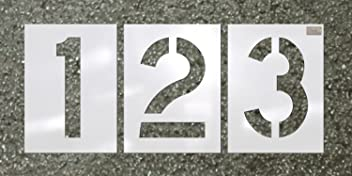 C.H. Hanson - Number Kit 12 Pc. - Stencil Font Size 24