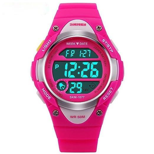Niños Digital Relojes Niños Deportes impermeable reloj con LED alarma Cronómetro reloj de pulsera para niños niñas: Amazon.es: Relojes