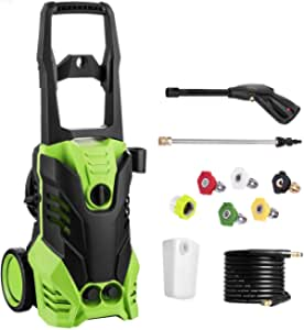 Homdox 2950 PSI Pressure Washer, Electric High Pressure Power Washer Machine with Power Hose Gun Turbo Wand 5 Interchangeable Nozzles