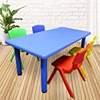 1.2M Kid's Adjustable Rectangle Table with 4 Chairs Mix Set