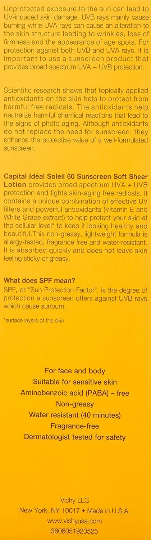 c1de4a717204 Amazon.com: Vichy Laboratories Capital Soleil SPF 60 Soft Sheer Sunscreen  Lotion, 5 Ounce: Luxury Beauty