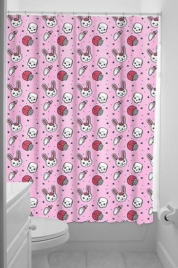 Amazon Sourpuss Zombie Bunny Shower Curtain Home Kitchen