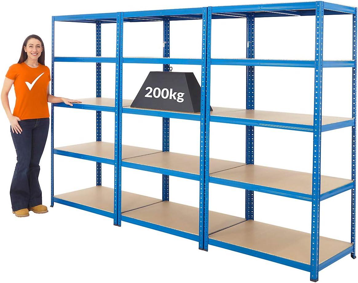 Tiefe 60 cm Mega Deal2x Schwerlastregal 265 kg pro Fachboden