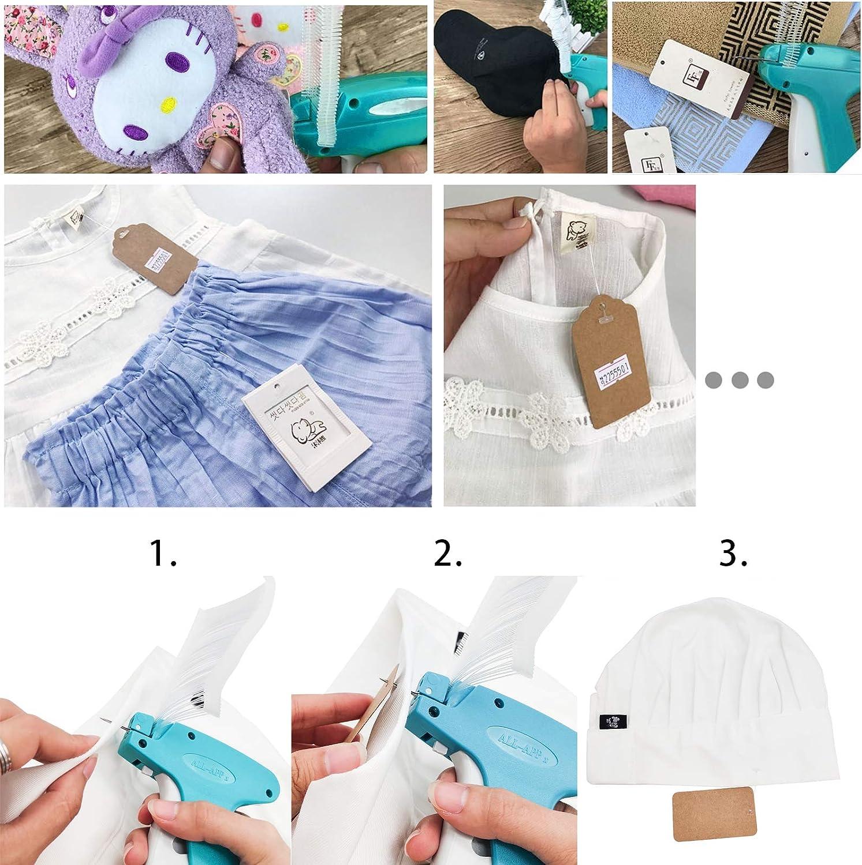 Etichettare I Vestiti in Modo Sicuro Ed Efficiente JJYHEHOT Pistola Per Etichette/ Con Ardiglione Di Attacco Da 3000 Marchi