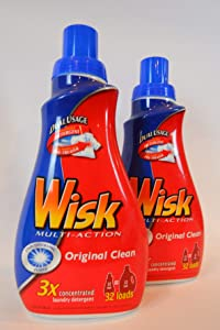 Wisk Multi-Acrion Original Clean 3x concentrated Laundry detergent