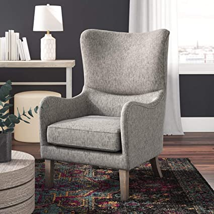 Amazon.com: Modern Accent Chair - Contemporary Wingback ...