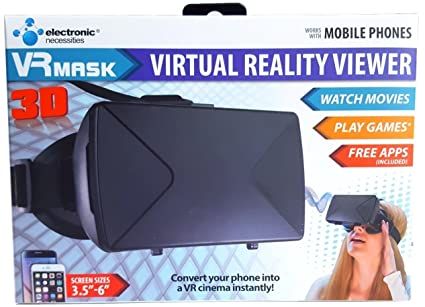 VR Mask Virtual Reality Viewer for Mobile Phones Glasses Support iPhone Samsung and Other 3.5-