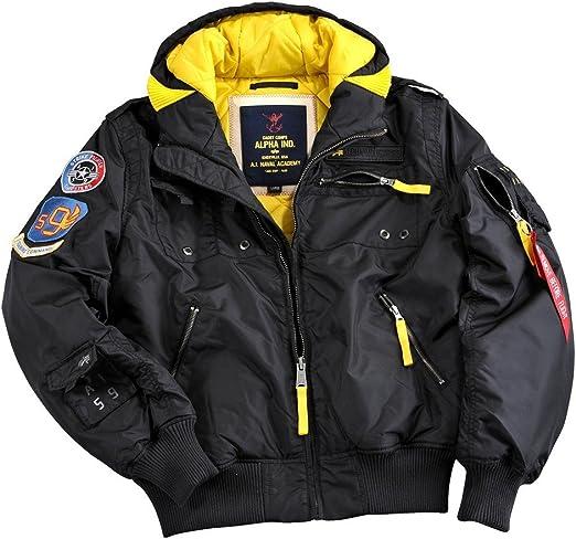 alpha jacke schwarz gelb