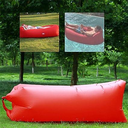 Vanimeu Sofá Cama Hinchable Lazy Air sofá Tumbona Silla Saco de Dormir al Aire Libre portátil