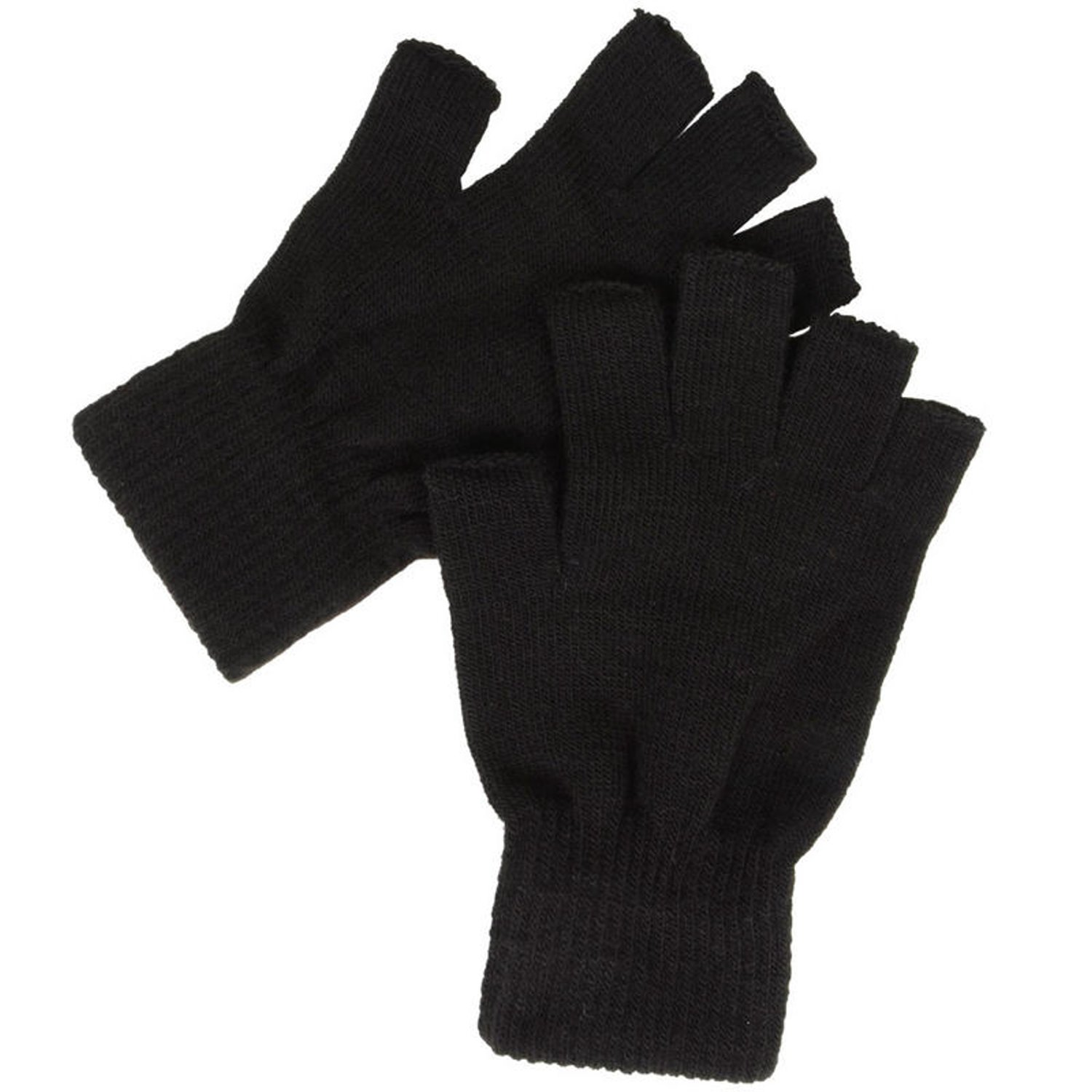 Mens gloves no fingers - Mens Thinsulate 3m Thermal Fingerless Gloves Black M L Amazon Co Uk Clothing