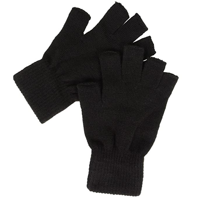sold worldwide special sales new york BLACK THERMAL FINGERLESS GLOVES