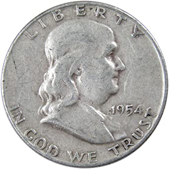1950-p Franklin Half Dollar Average Grade of Coin You Receive is Photographed