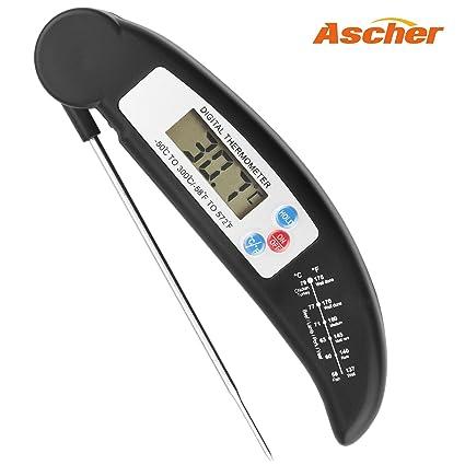 Termómetro del alimento, Ascher Cocina termómetro / LCD Digital termómetros domésticos / cocina Termómetro digital