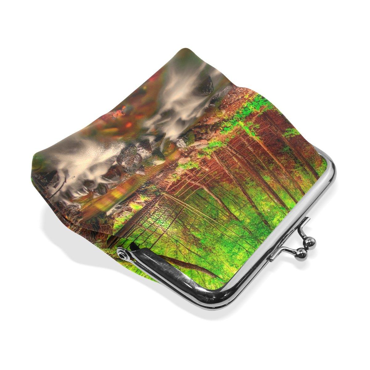 Coin Purse Landscape Forest Wallet Buckle Clutch Handbag For Women Girls Gift