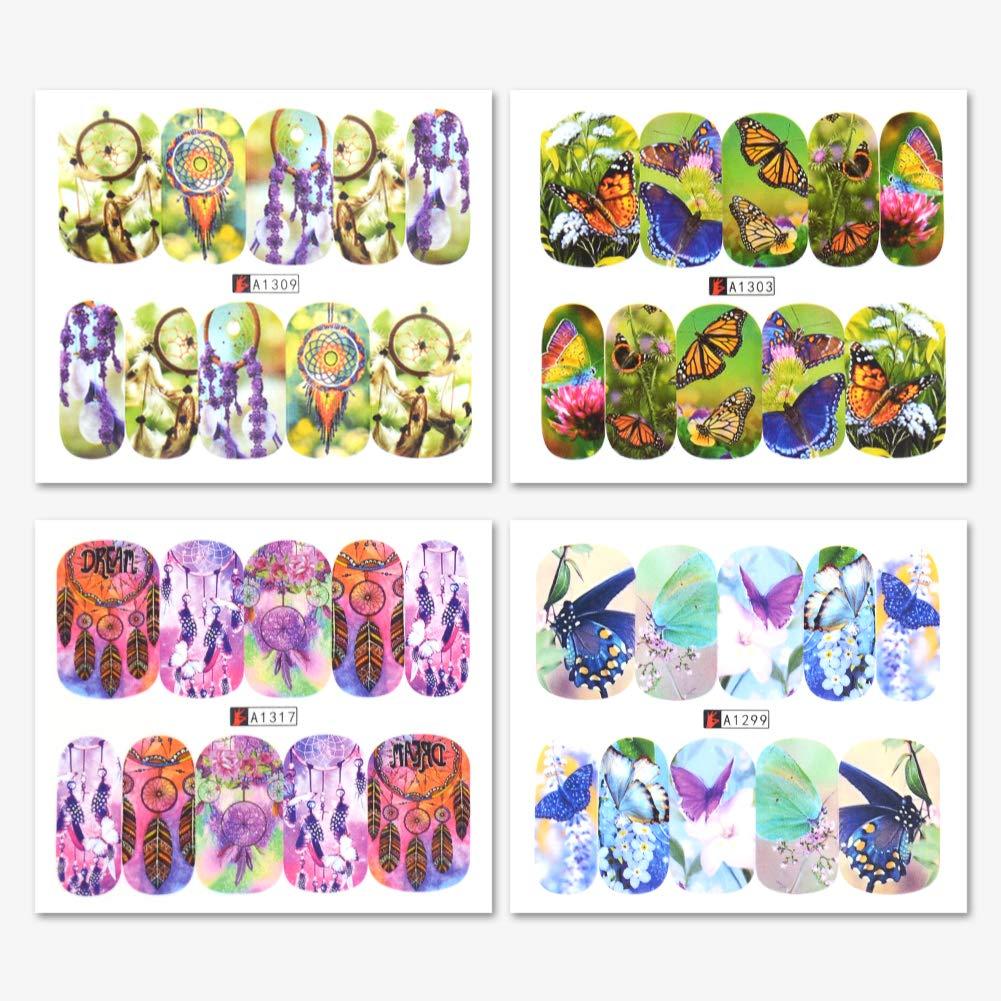 50 Blatt Nagel Kunst Sticker Nail Art Plates Stamping Water Transfer Nagel Sticker Schöne Mode Accessoires Dekoration MEILINDS