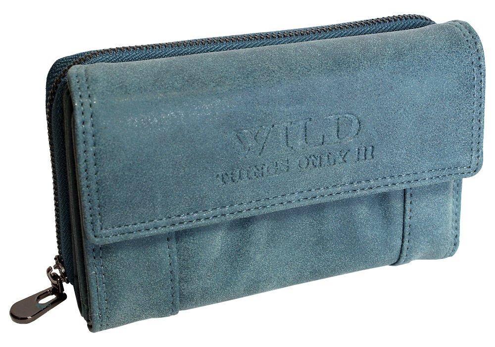 Mittel-Große Damen Geldbörse | Portemonnaie mit Münzfach Kreditkartenfächer Ausweisfächer Fotofächer | Brieftasche für Frauen - verschiedene Farben XL (11021)