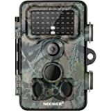 Neewer Trail Game Camera 16MP 1080P HD Digital Waterproof Hunting Scouting Cam 120° Wide Angle Lens with 0.3s Trigger…