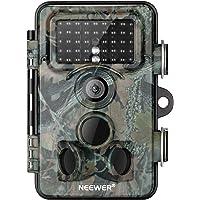 Neewer Caméra de Chasse 16MP 1080P HD IP66 Caméra de Jeux Etanche 940nm Sécurité Vision Nocturne Activée par Mouvement LCD 2,4pouces Alimenté par Battérie pour Observation de Faune