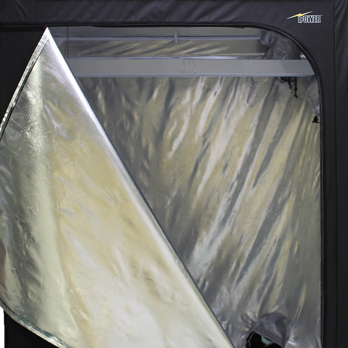 iPower 60''x60''x78'' 5'x5' Hydroponic Mylar Grow Tent with Observation Window, Tool Bag and Floor Tray for Grow Light and Indoor Plant Growing by iPower (Image #3)
