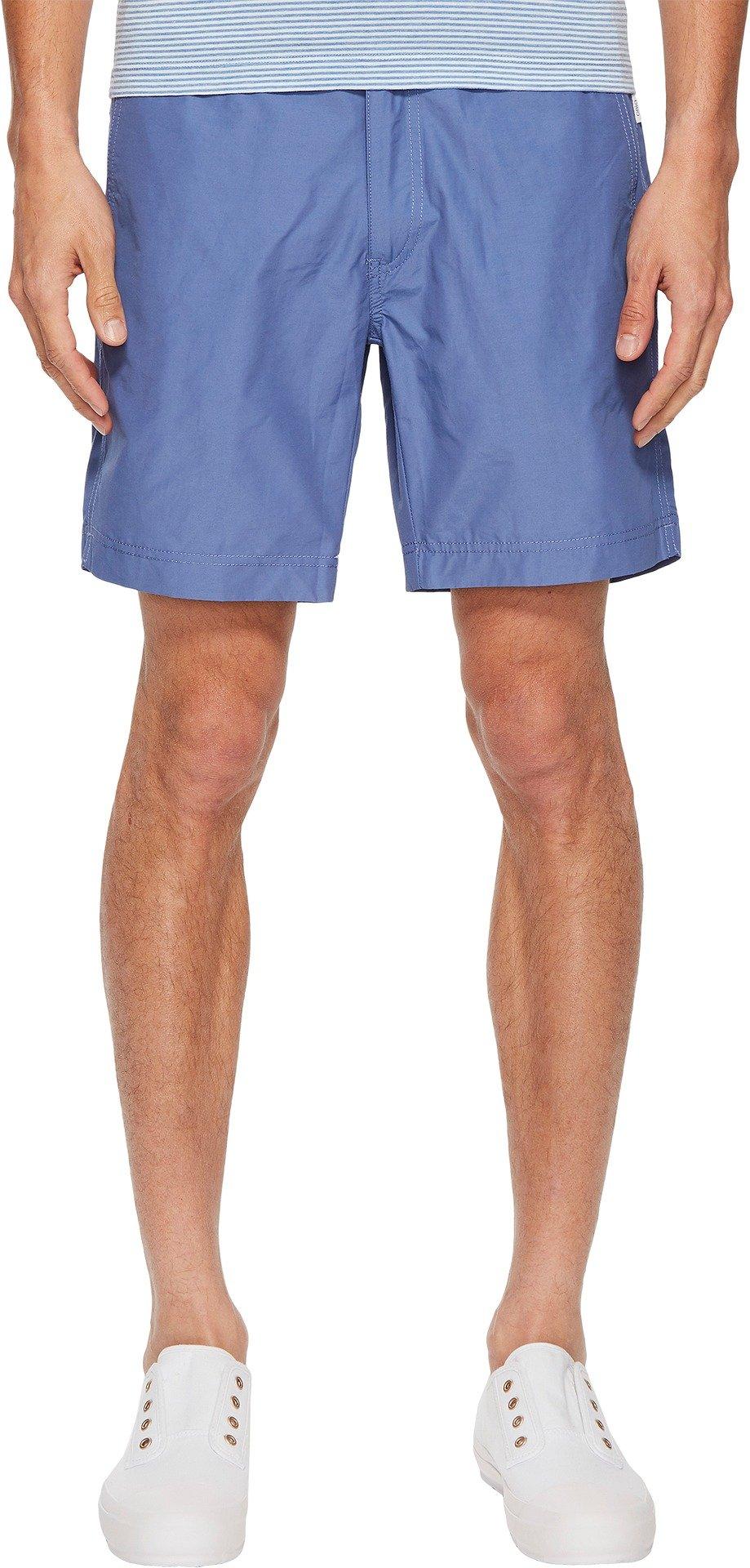 Onia Men's Petite Plus Calder 7.5 inch Solid Swim Trunk, Dutch Blue, 36