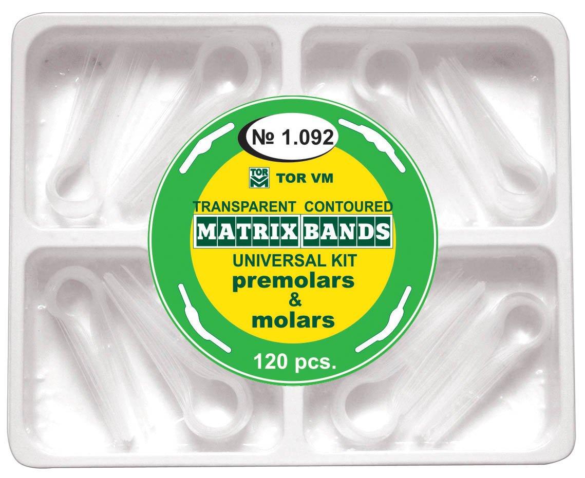 Dental Kit of Transparent Contoured Matrices Matrix Bands 120 pcs. TOR VM