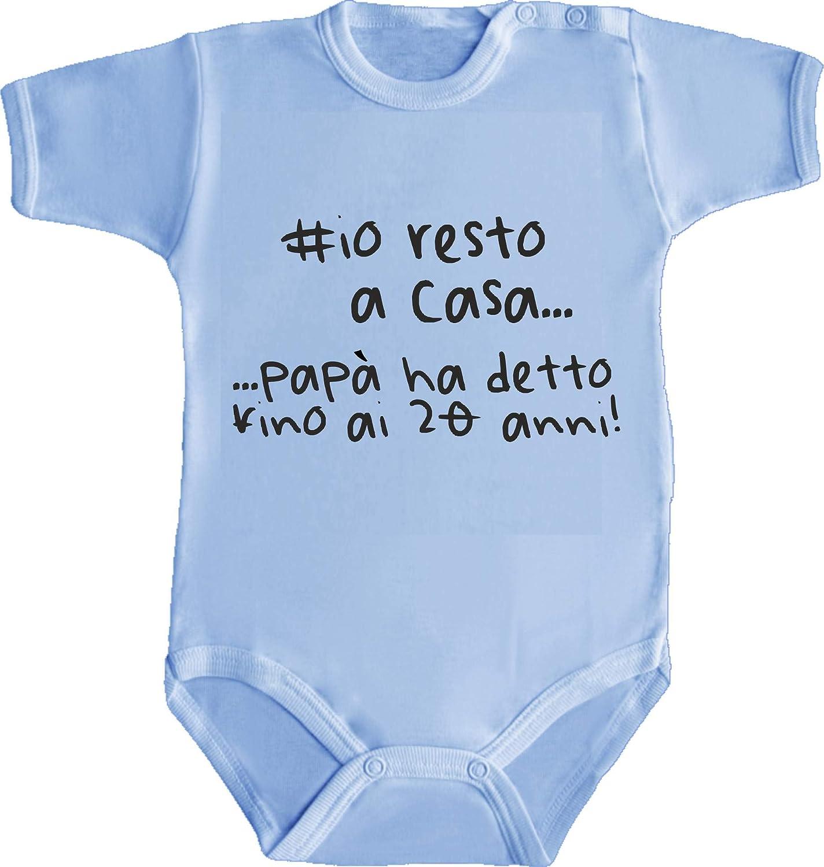 Fino AI 20 Anni/_Humor Divertenti Infanzia Nascita Neonato Made in Italy Body Bimbo Bimba Neonato Pigiama #IORESTOACASA