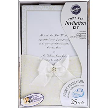 Wilton Happy Day Wedding Invitation Kit Amazonca Home Kitchen
