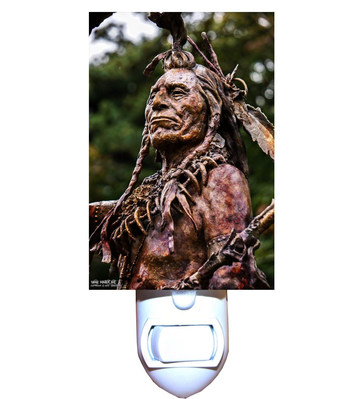Bronze Native American Indian Decorative Night Light