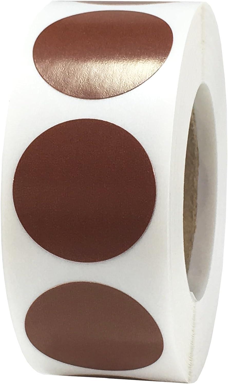 19 mm 3//4 di Pollice Rotondo Blu Acciaio Cerchio Punto Adesivi 500 Etichette su Rotolo