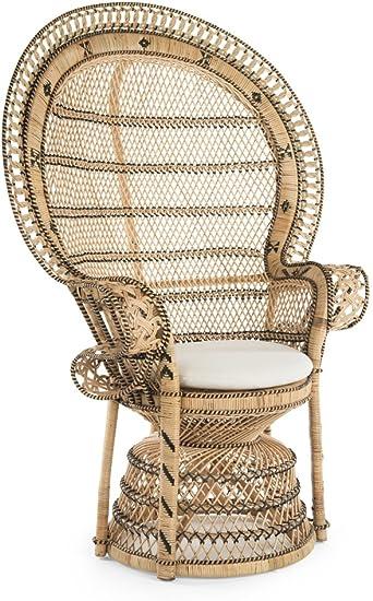 Amazon.com: kouboo 1110024 Grand pecock silla cojín de Retro ...