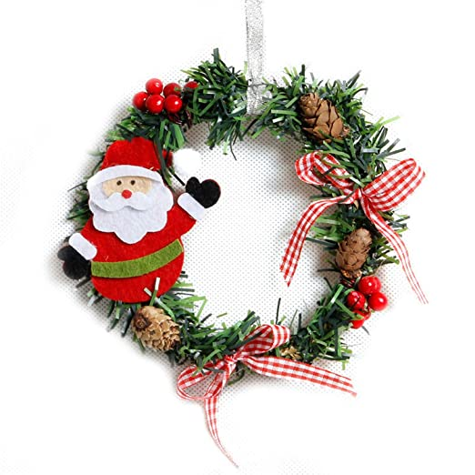baolustre small christmas wreath cartoon with pines wreaths mini xmas new year garland nice gift - Small Christmas Wreaths