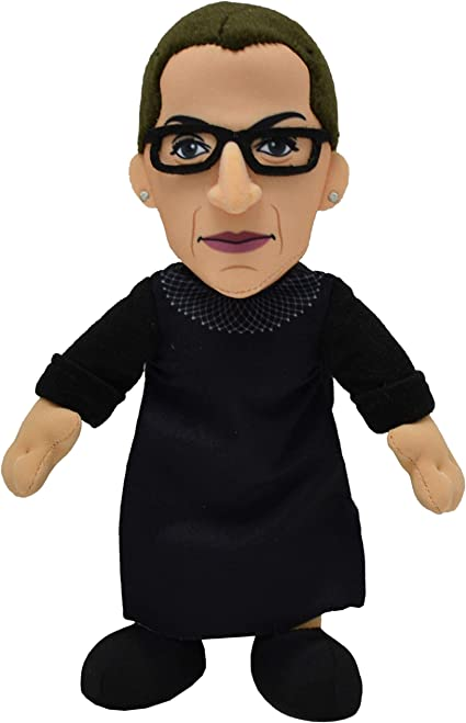 Amazon Com Bleacher Creatures Ruth Bader Ginsburg 10 Plush Figure The Rbg Icon For Play Or Display Toys Games