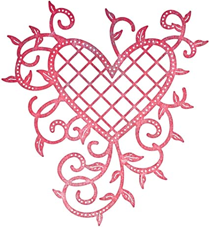 Amazon Com Cheery Lynn Designs B368 Lattice Heart Vines