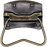 4 PCs Vintage Style Lifting Handle Chest Pull with Distressed Antique Brass Finish for Wooden Box/Case/Chest-Large Size