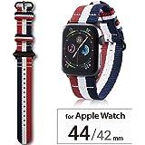 エレコム Apple Watch バンド 44mm/42mm ファブリック   トリコロール AW-44BDNATSTC