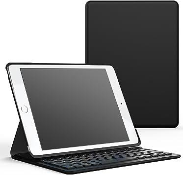 MoKo iPad Pro 9.7 / iPad Air 2 Funda con Teclado - Inalámbrico Bluetooth Ultra-Slim Wireless Keyboard Stand Fución Cover Case (QWERTY) para Apple iPad ...