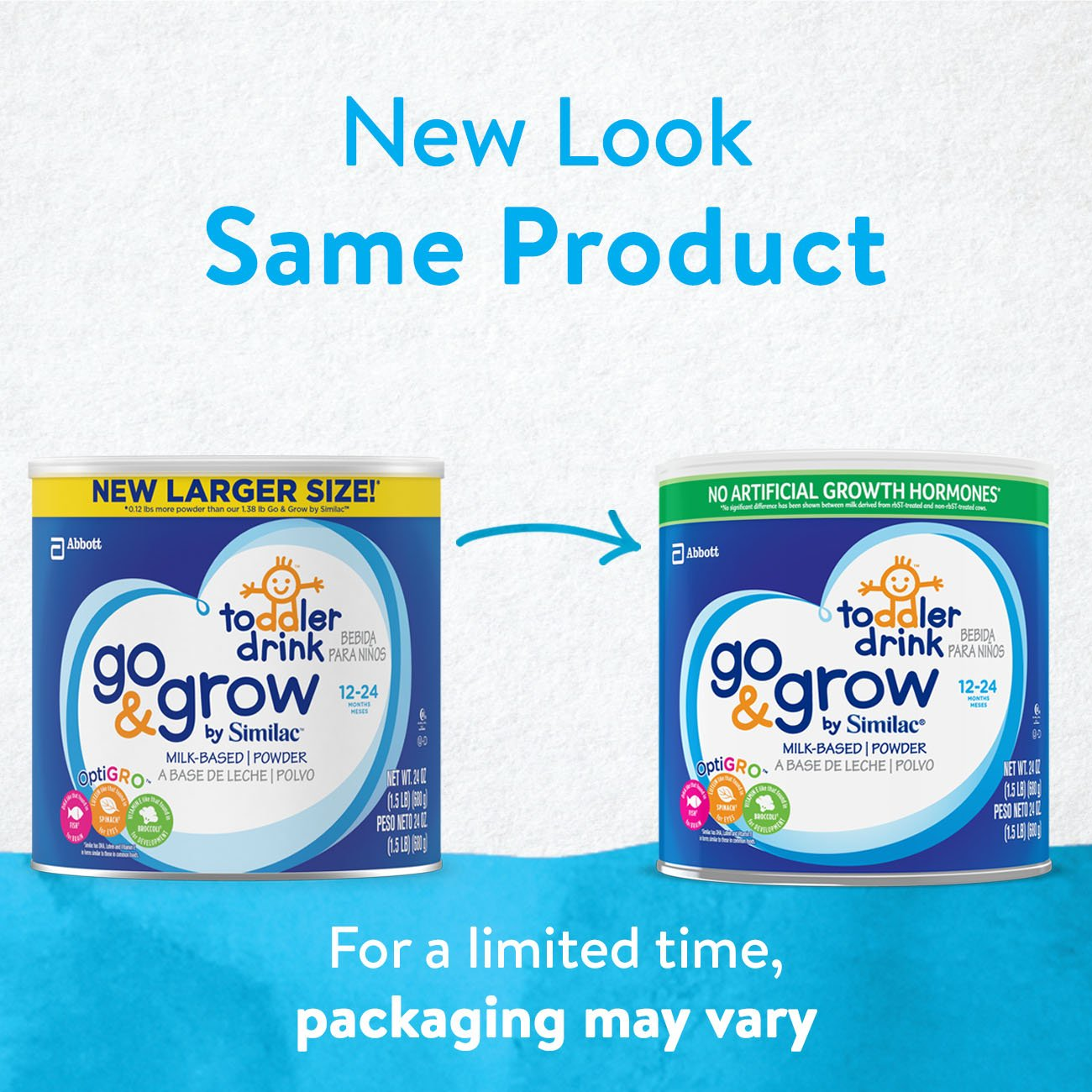 Go & Grow By Similac Milk Based Toddler Drink, Large Size Powder, 24 ounces (Pack of 6) by Similac (Image #3)
