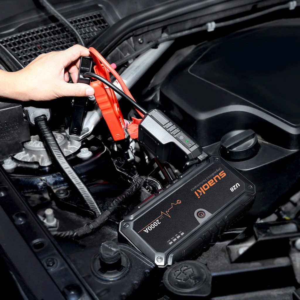 Suaoki U28 2000A Peak Jump Starter Pack (for ALL Gas or 8.0L Diesel Engines) with USB Power Bank, LED Flashlight and Smart Battery Clamps for 12V Car & Boat by SUAOKI (Image #7)