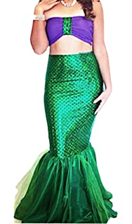 66581721788 Rachel Charm Women s Mermaid Costume Lingerie Halloween Cosplay Fancy  Sequins Long Tail Dress with Asymmetric Mesh
