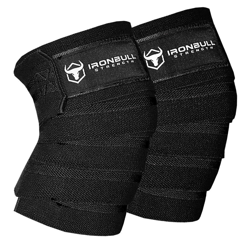 Fitness 1 Paar Powerlifting Kniewickel CrossFit WODs /& Fitnessstudio Workout Knieriemen f/ür Kniebeugen F/ür Gewichtheben - 80 Elastische Knie Unterst/ützung /& Kompression