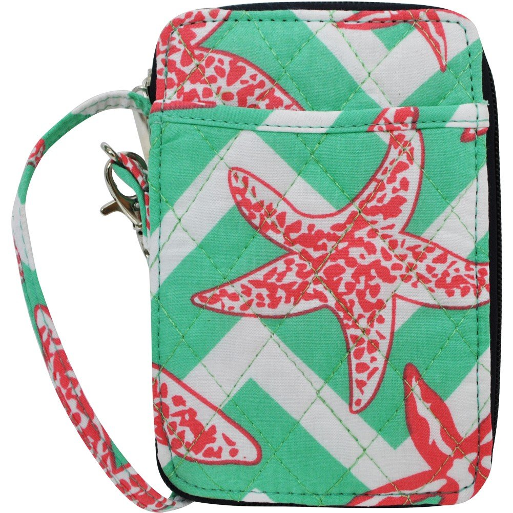 Summer Chevron Seastar Print NGIL Quilted Wristlet Wallet