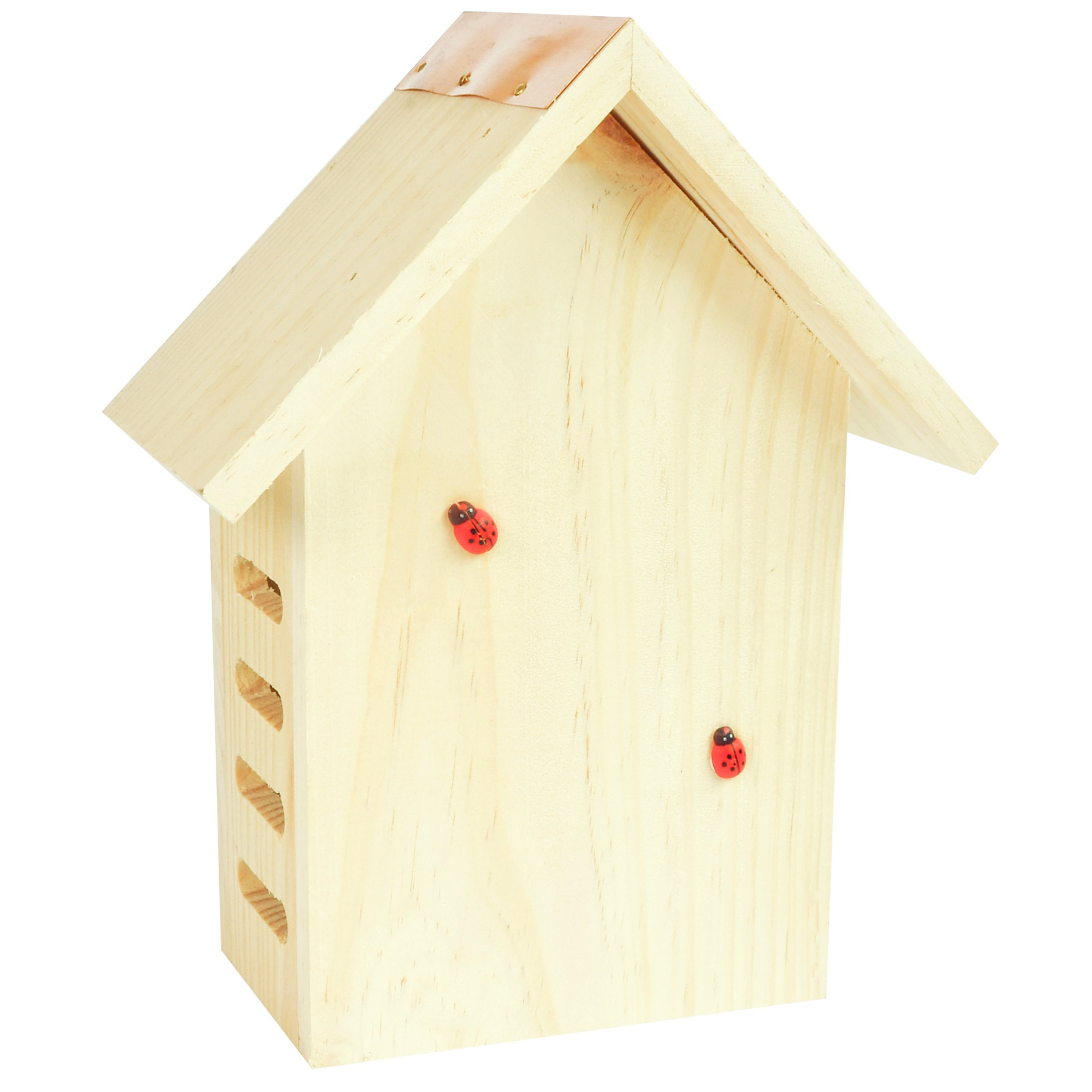 Gardirect Wildlife Wooden Ladybird House, Lacewing Home, Natural Insect Hotel