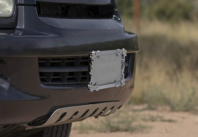 2 Pack Cruizin Along Chrome License Plate Frame Bundle w// Fasteners and Caps