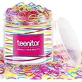 Color Elastic Hair Bands, Teenitor 2000pcs Multi Color Hair Holder Hair Tie Elastic Rubber Bands for Baby Girls
