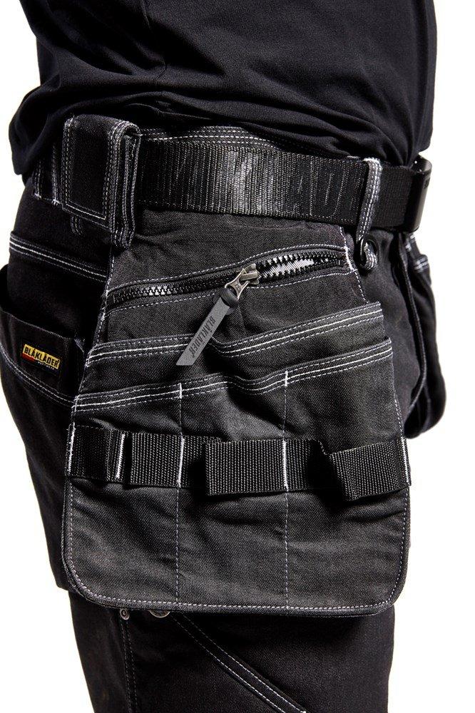 Schwarz 46 Shorts mit Stretcheins/ätzen und elastischem Bund Bl/åkl/äder Damen Service-Shorts mit Stretch Gr/ö/ße C44