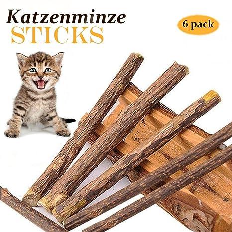 6 Catnip Juguetes Gatos Matatabi Juguete Masticar Gatito De Mascotas Limpieza Dientes Saludable Cuidado EcolóGico De