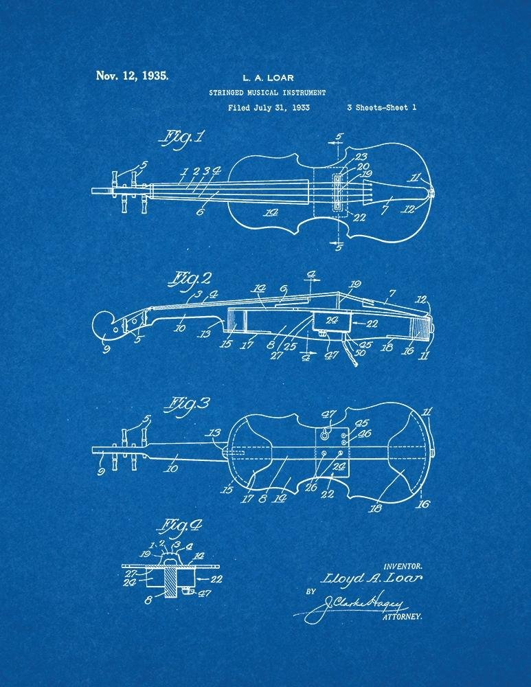 Amazon stringed musical instrument patent print art poster amazon stringed musical instrument patent print art poster blueprint 85 x 11 posters prints malvernweather Image collections