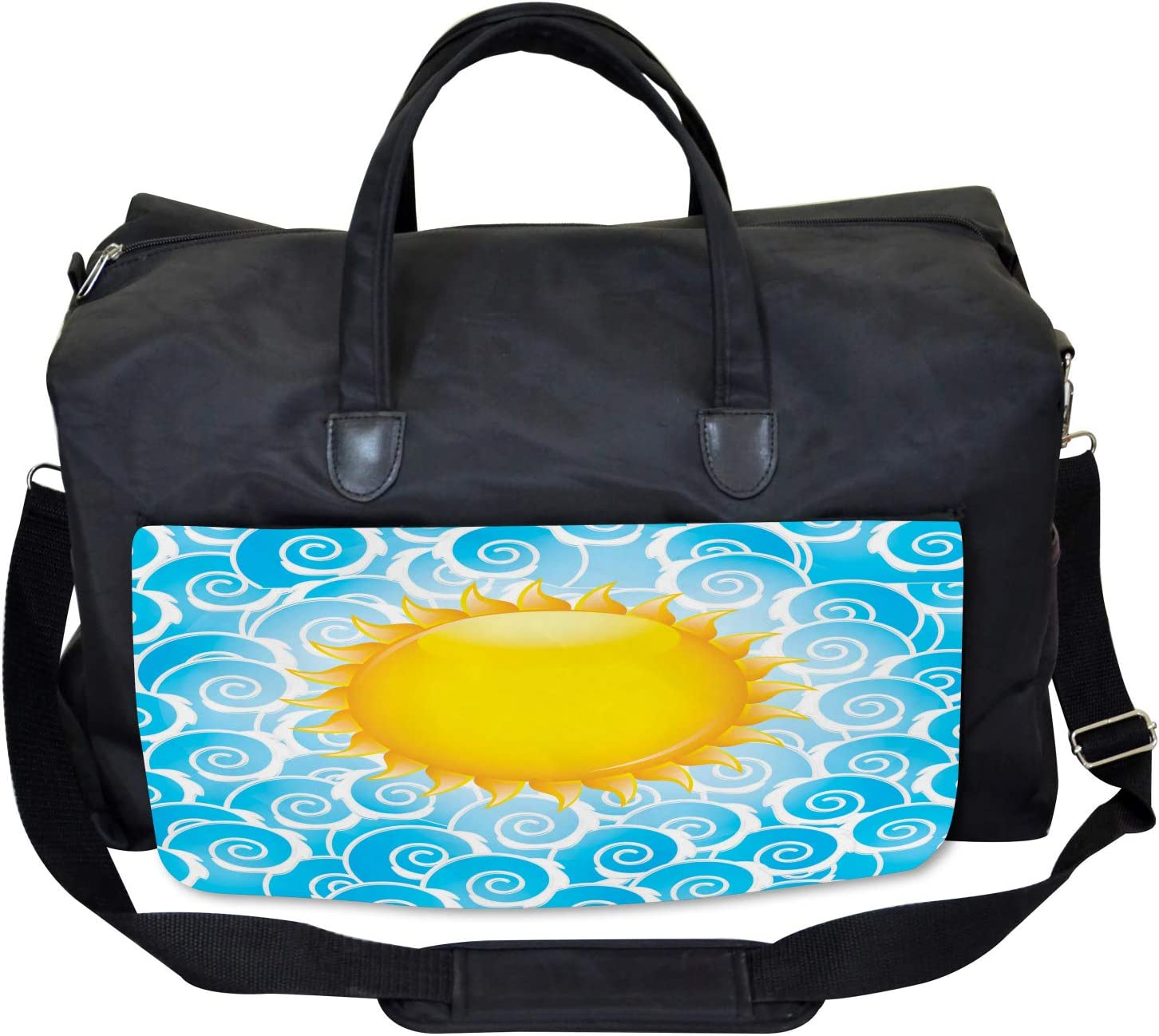 Ambesonne Summer Gym Bag Large Weekender Carry-on Holiday Joy Ocean Sea