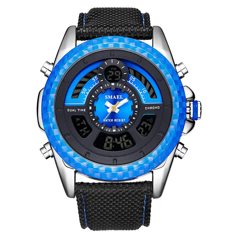 Blisfille Reloj Digital Resistente Al Agua Reloj Acero Pulsera ...